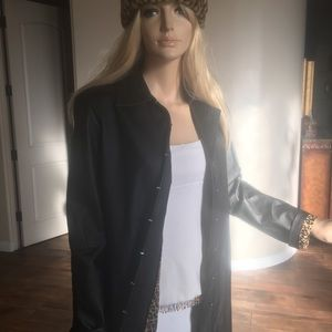 Women's Leather Coat Size Small